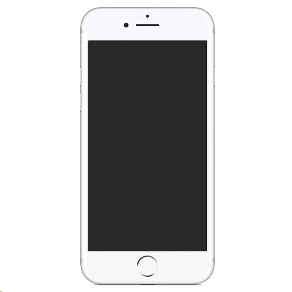 Iphone with black screen